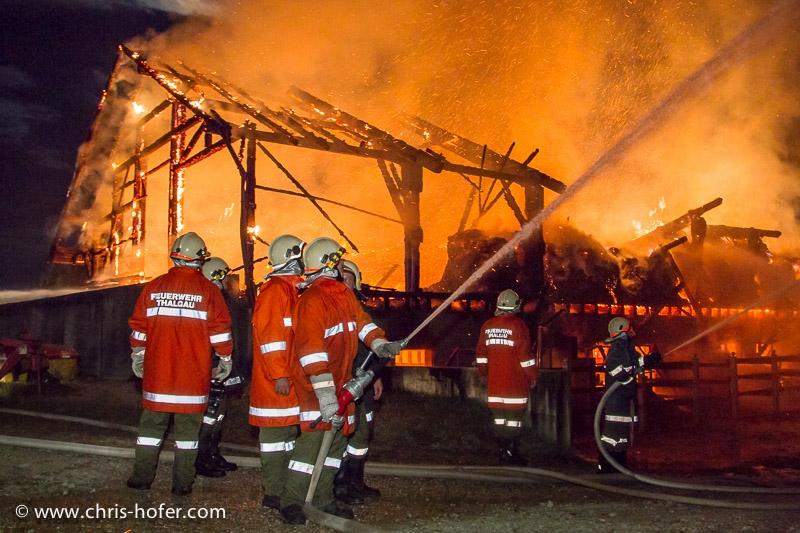 Grossbrand beim Wimmerbauer in Thalgau, 2011-08-14; Foto: Chris Hofer