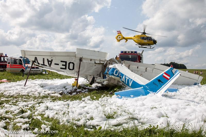 Absturz eines Kleinflugzeuges bei Strasswalchen, 2012-06-21; Foto: Chris Hofer